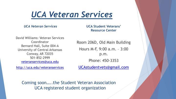 UCA Veteran Services