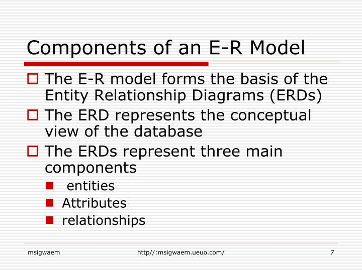 Components of an E-R Model