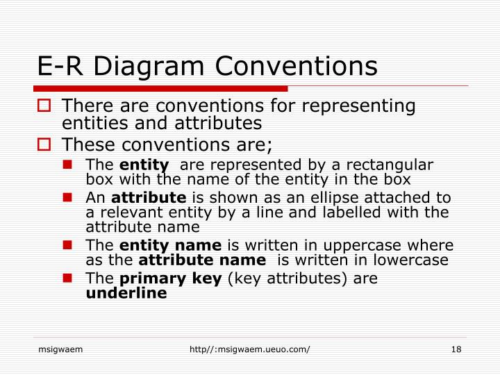 E-R Diagram Conventions