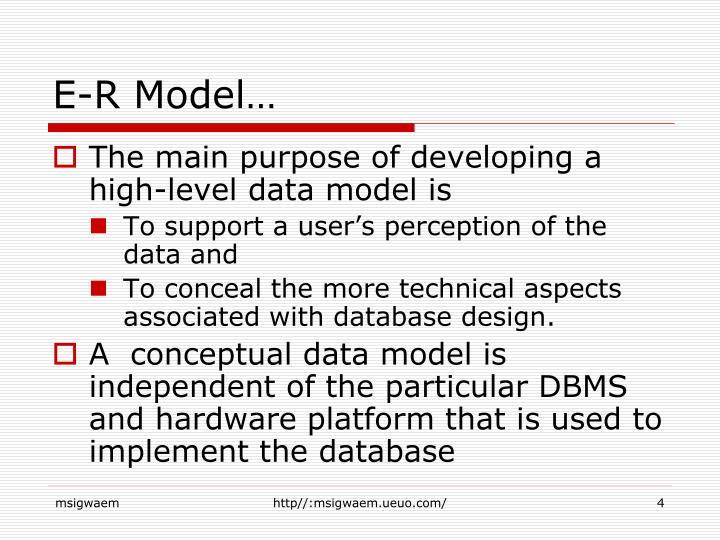 E-R Model…