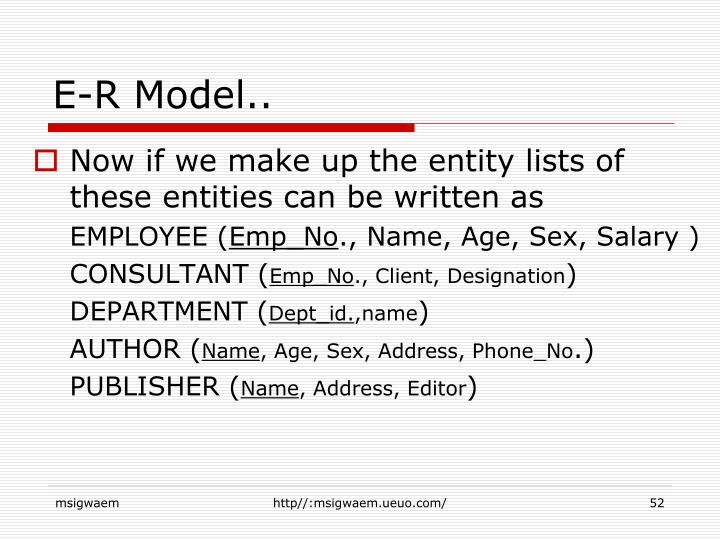 E-R Model..