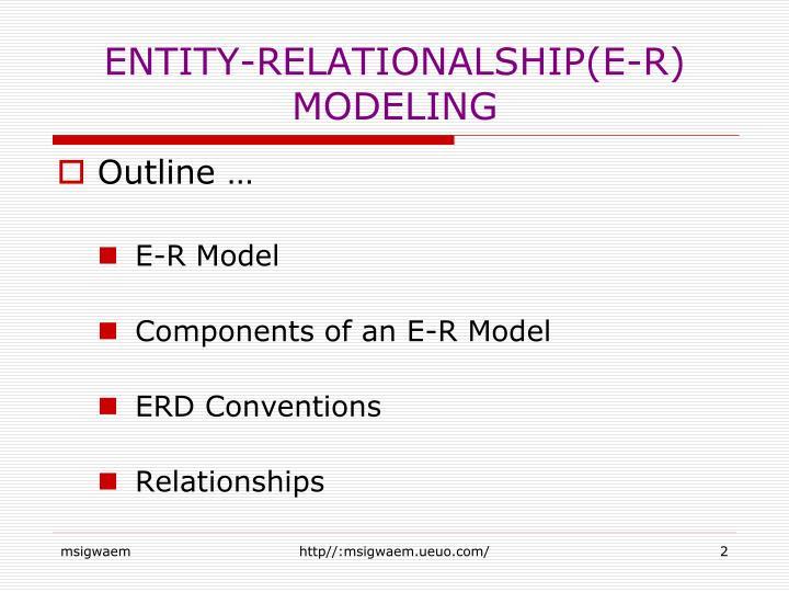 ENTITY-RELATIONALSHIP(E-R) MODELING