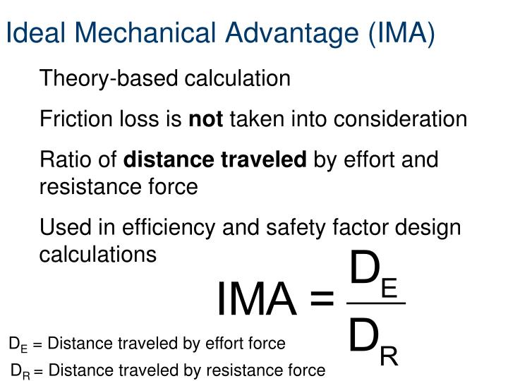 Ideal Mechanical Advantage (IMA)