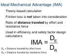 ideal mechanical advantage ima
