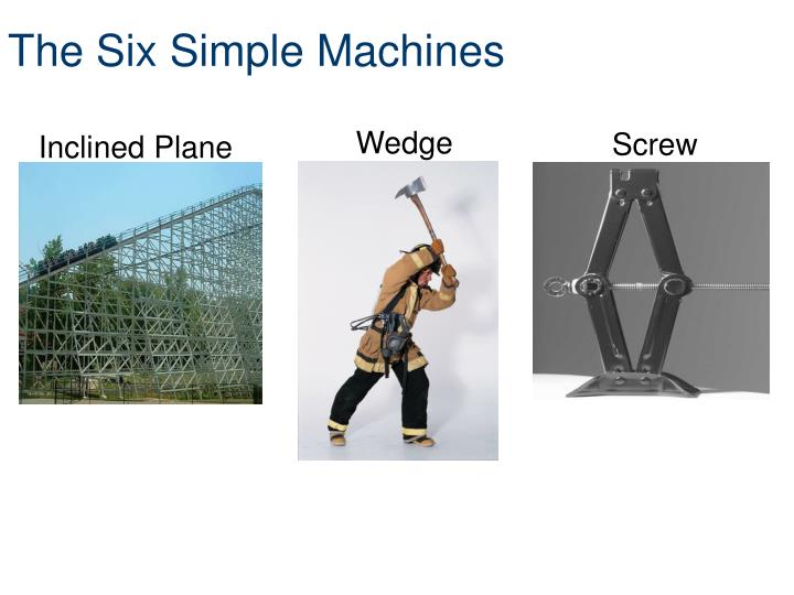 The six simple machines