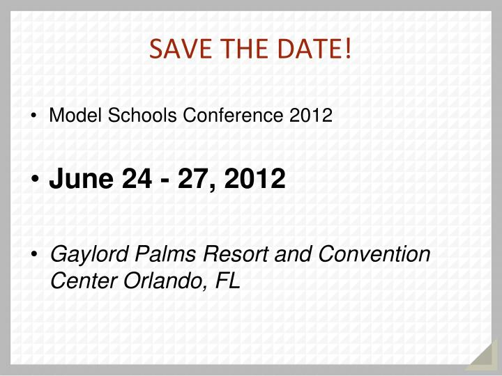 Model Schools Conference 2012