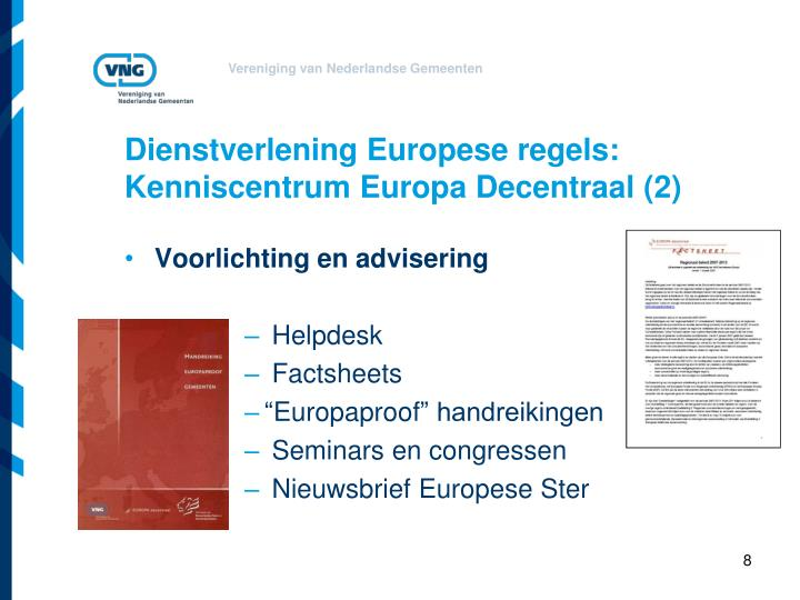 Dienstverlening Europese regels: Kenniscentrum Europa Decentraal (2)
