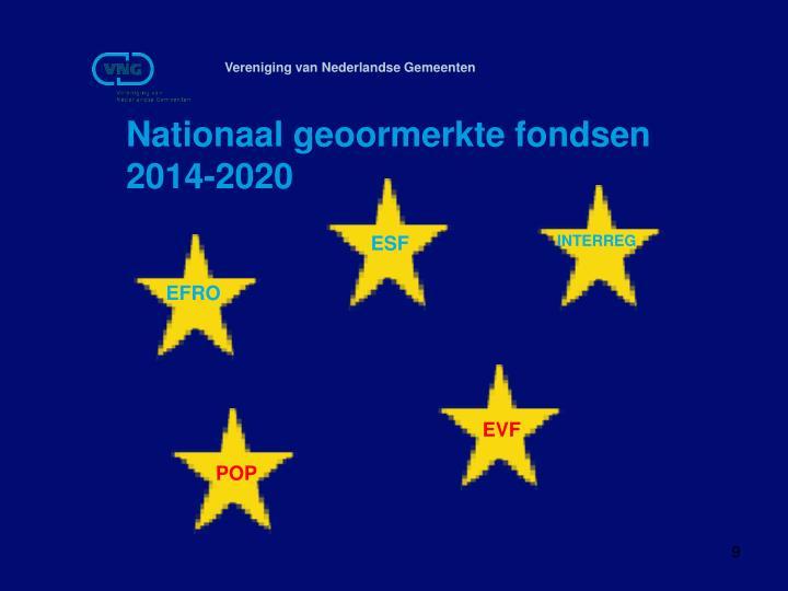 Nationaal geoormerkte fondsen 2014-2020