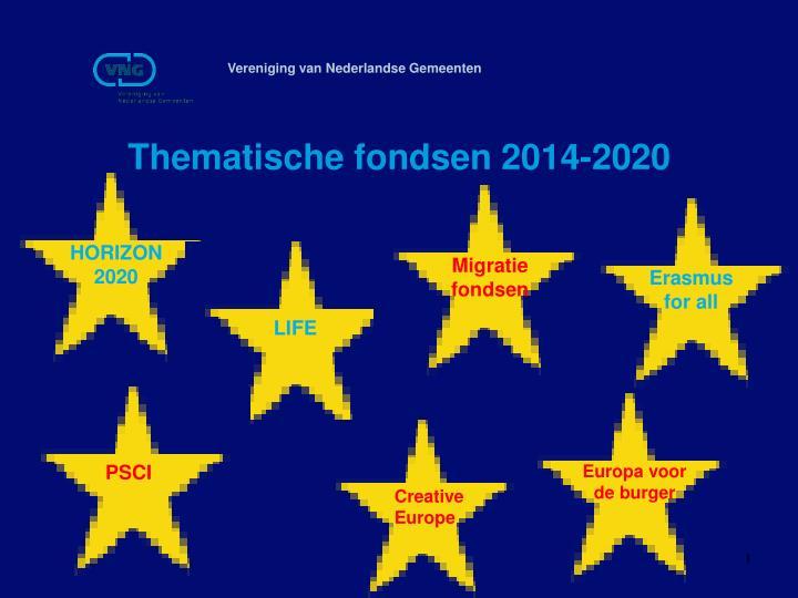 Thematische fondsen 2014-2020