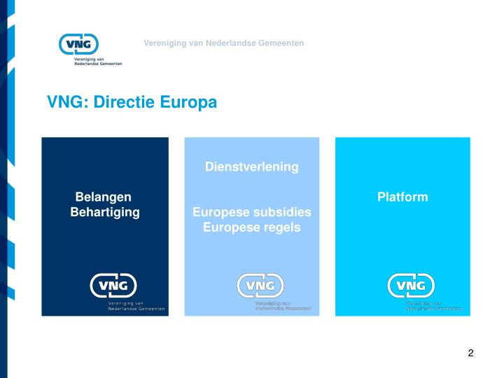 VNG: Directie Europa