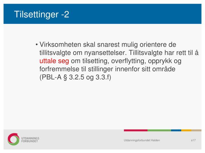 Tilsettinger -2