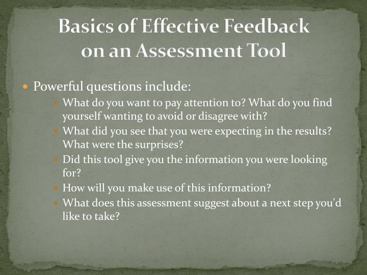 Basics of Effective Feedback