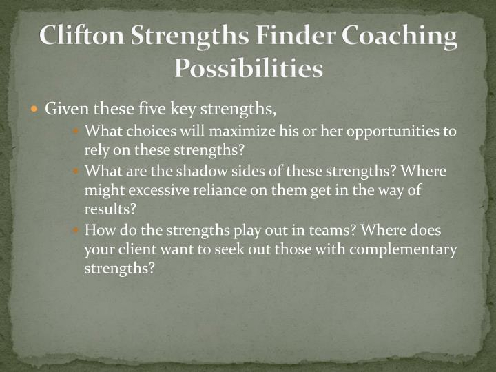 Clifton Strengths Finder