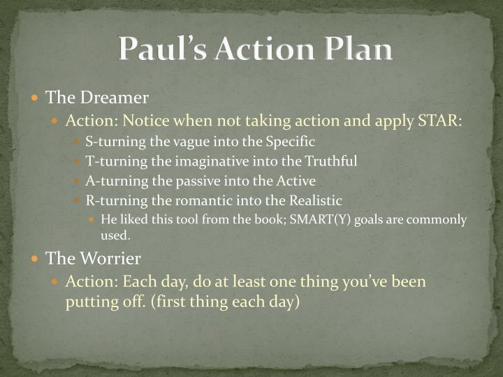 Paul's Action Plan