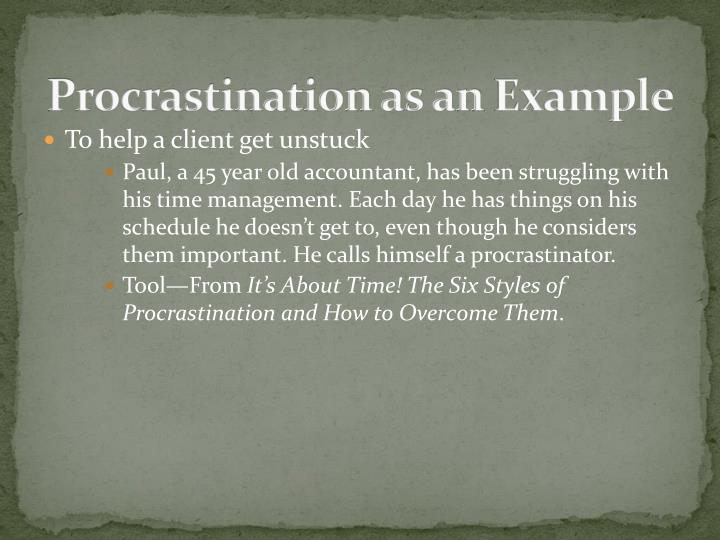 Procrastination as an