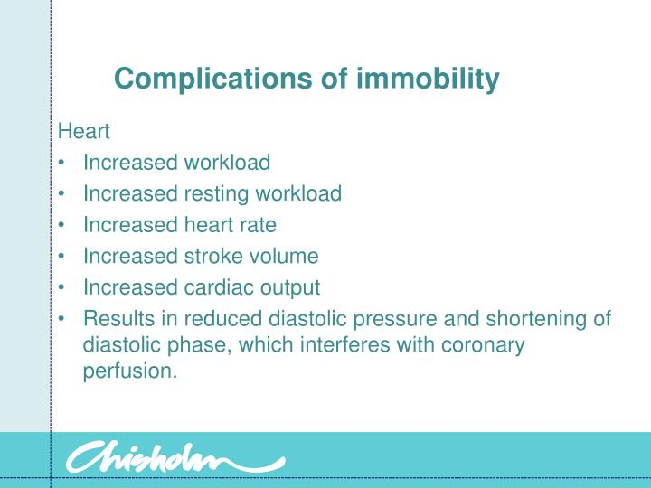 Complications of immobility