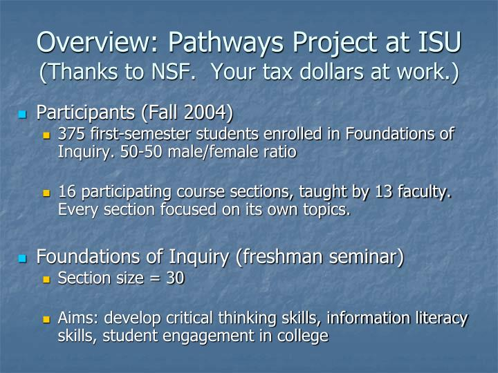 Overview: Pathways Project at ISU