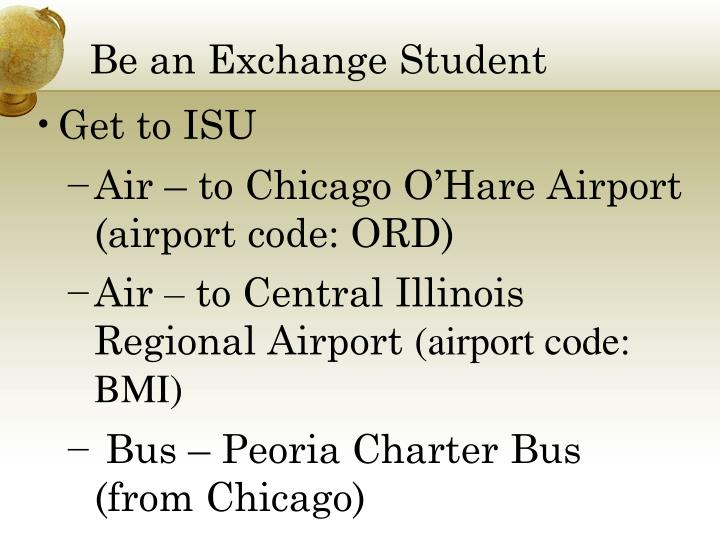Be an Exchange Student