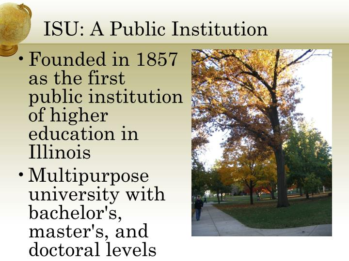 Isu a public institution
