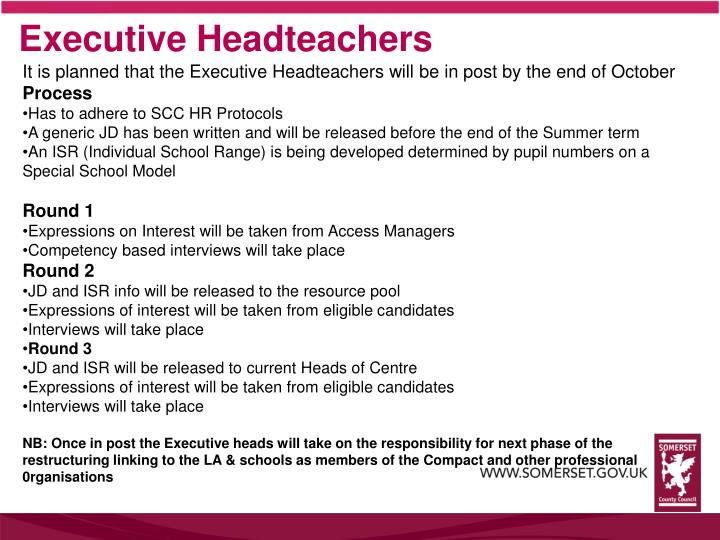 Executive Headteachers