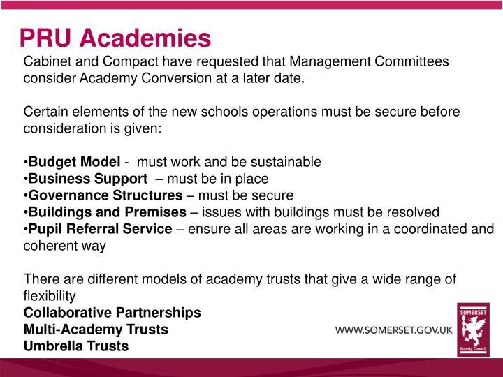 PRU Academies