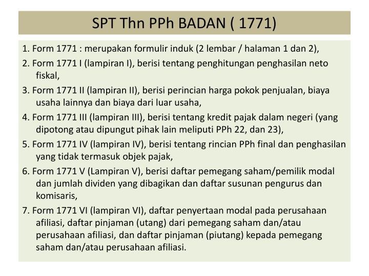 SPT Thn PPh BADAN ( 1771)