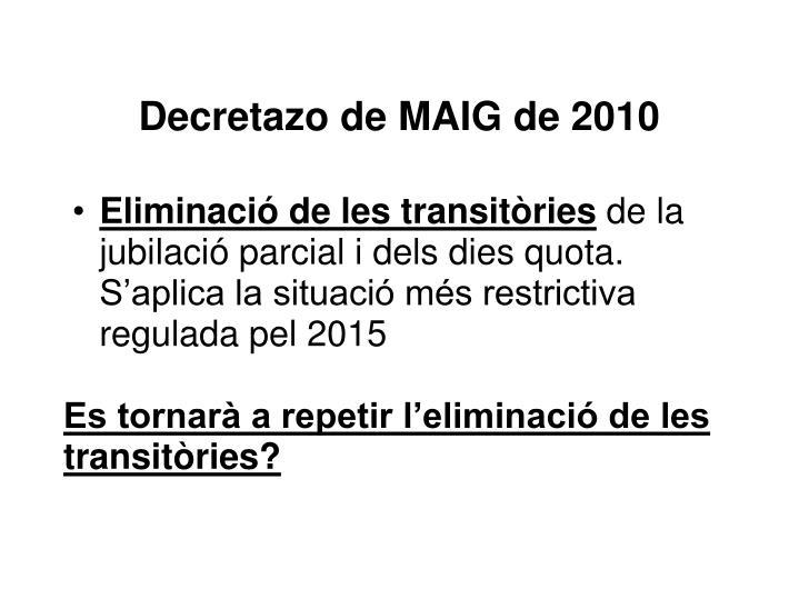 Decretazo de MAIG de 2010