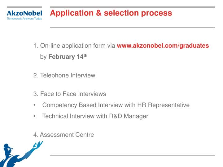 Application & selection process