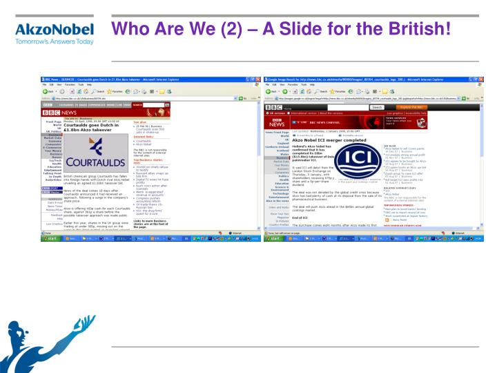 Who Are We (2) – A Slide for the British!
