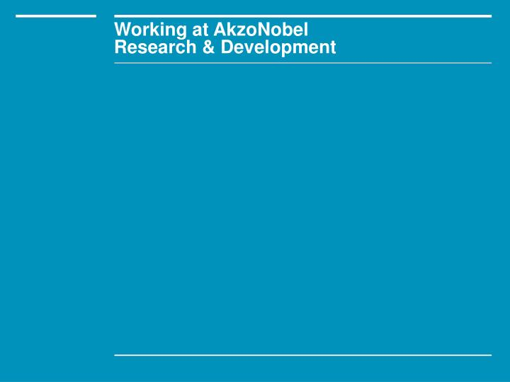 Working at AkzoNobel