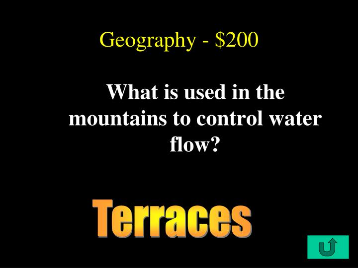 Geography - $200