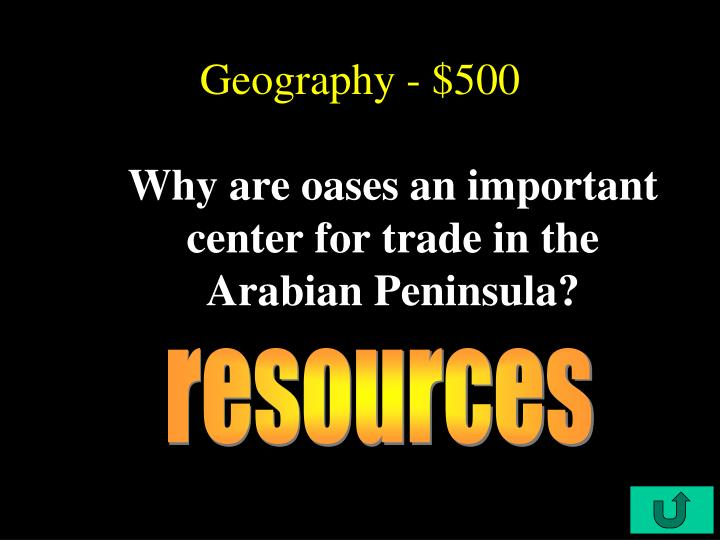 Geography - $500
