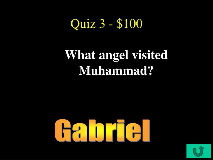 Quiz 3 - $100