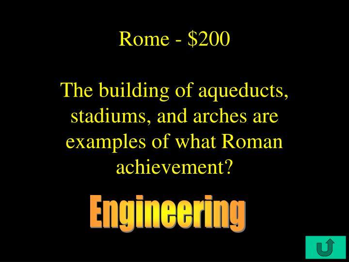 Rome - $200