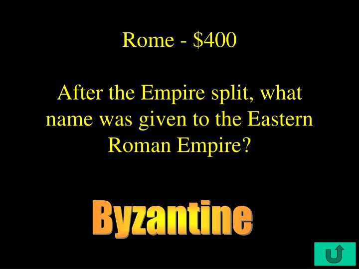 Rome - $400