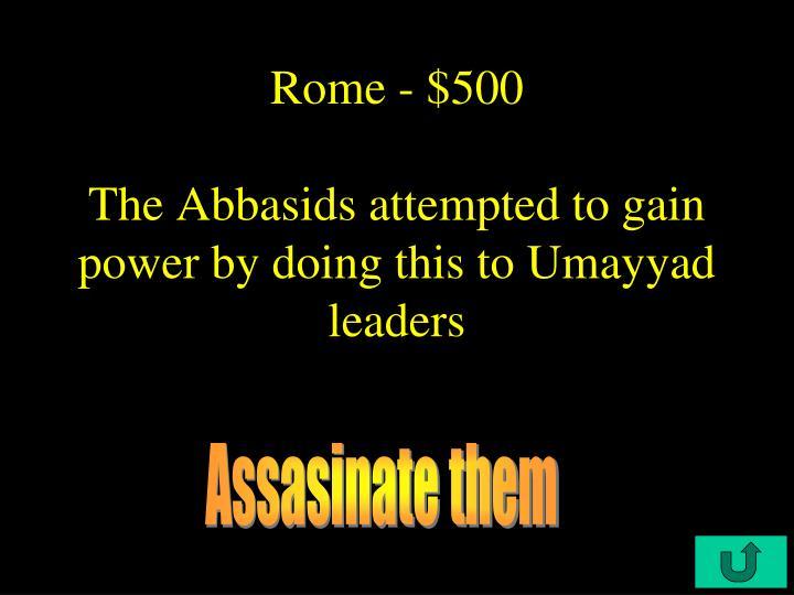 Rome - $500