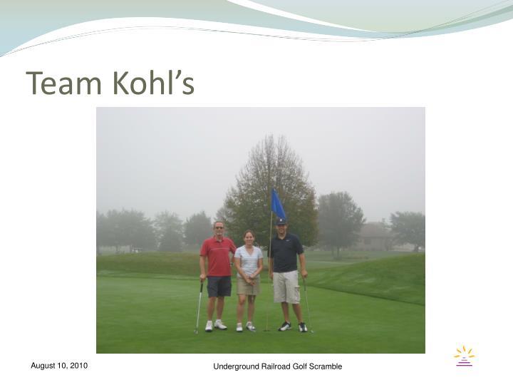 Team Kohl's