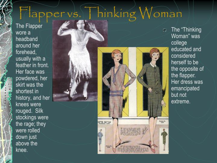 Flapper vs. Thinking Woman