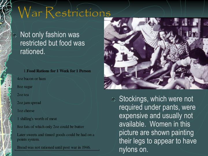 War Restrictions