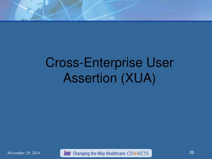 Cross-Enterprise User Assertion (XUA)