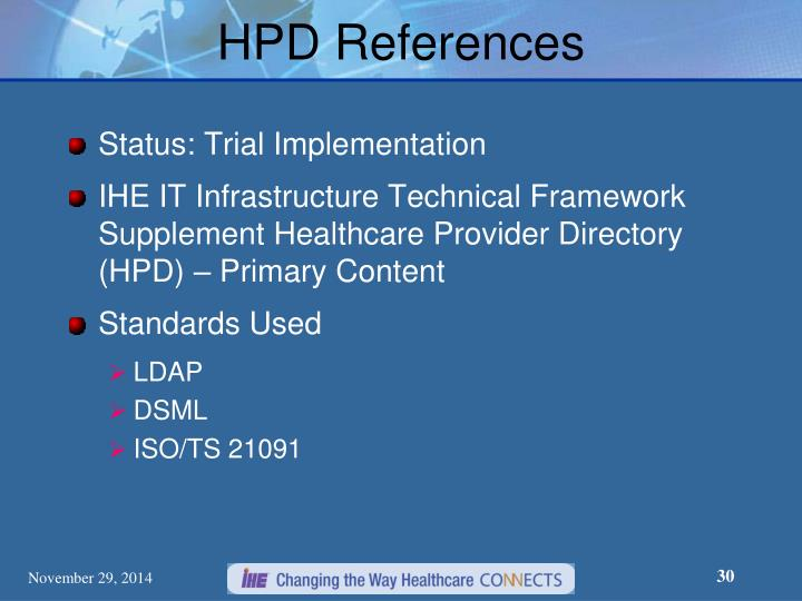 HPD References