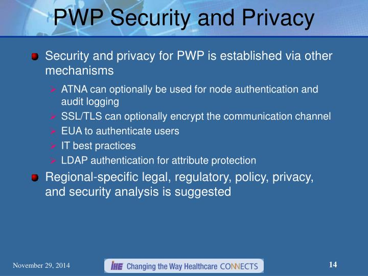 PWP Security and Privacy