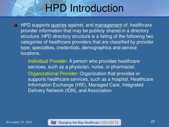 HPD Introduction