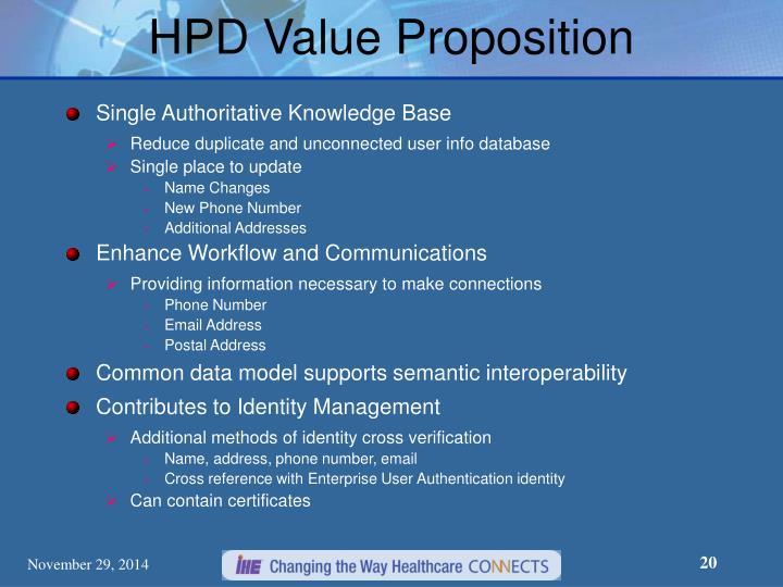 HPD Value Proposition