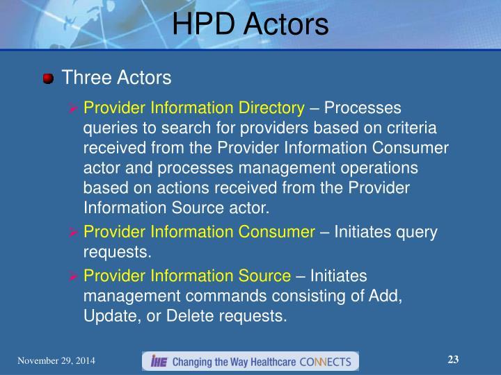 HPD Actors