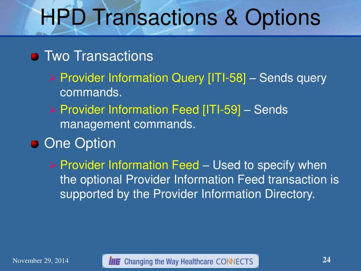 HPD Transactions & Options
