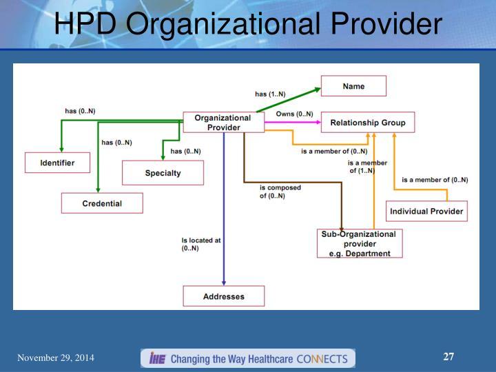 HPD Organizational Provider