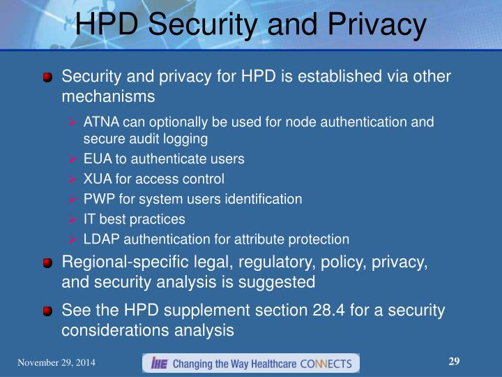 HPD Security and Privacy