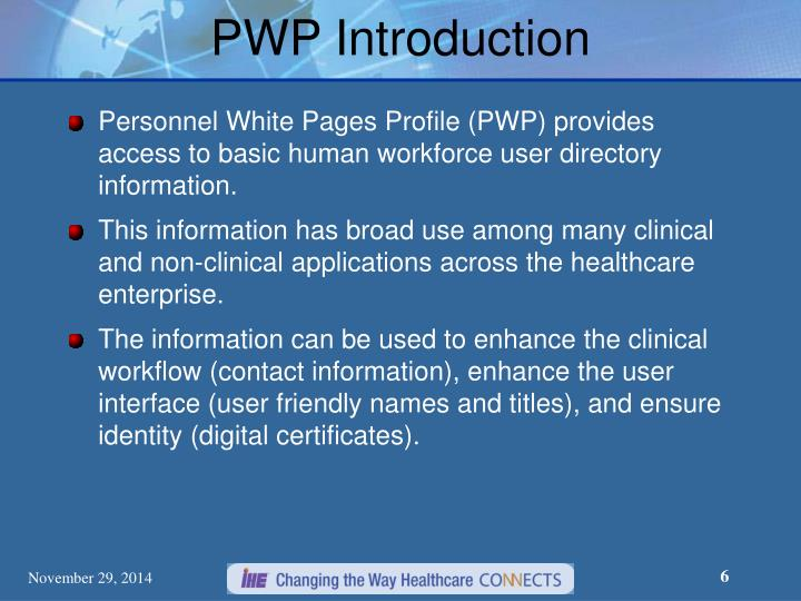 PWP Introduction