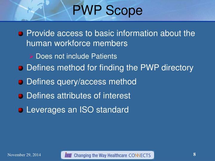 PWP Scope